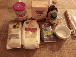 Ingrédients barres de céréales au chocolat